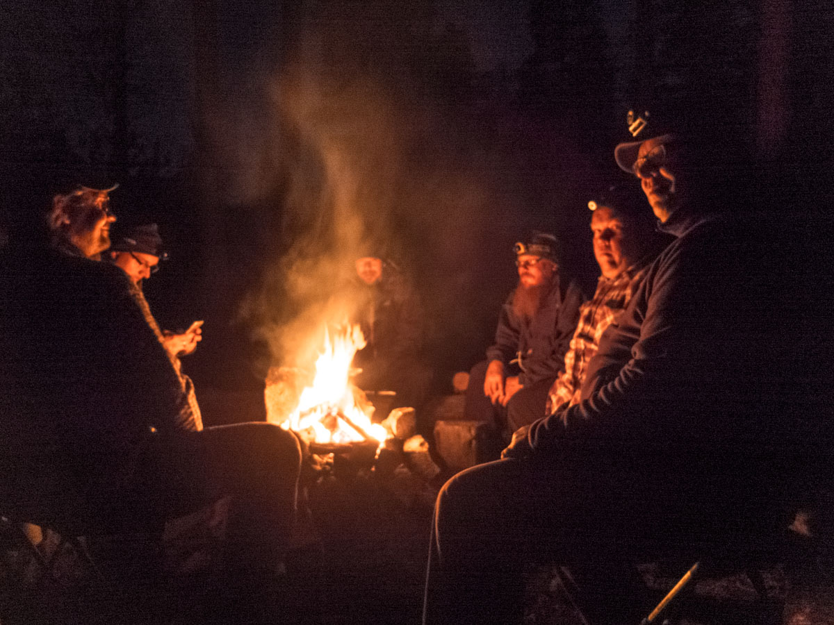 We finns don't talk much, even in the campfire. Some small chat but enjoyed the warm feeling of fire and relaxing quiet moments
