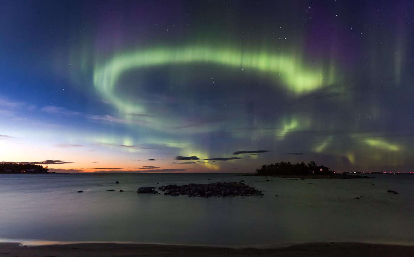 Northern lights over West coast