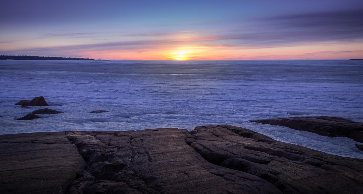 Legacy of the Ice age: polished beach rocks