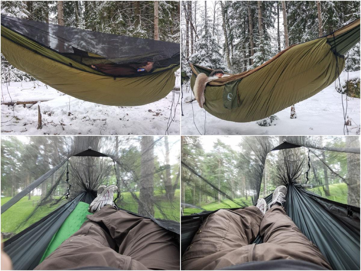 insulation spending a night in a hammock in every season  u2013 finland naturally  rh   finlandnaturally