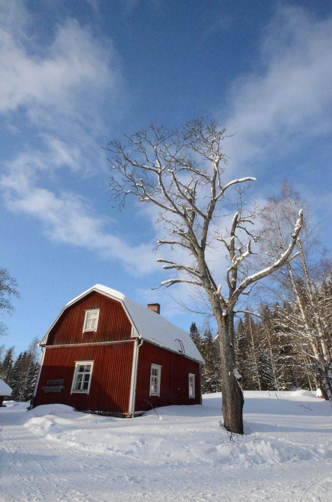 Konttila farm in winter, Puijo, Kuopio, Finland. Photo: Upe Nykänen