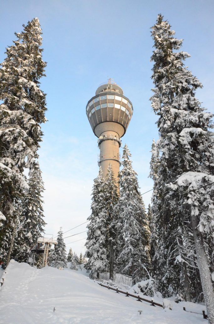 Puijo tower at Kuopio, Finland. Photo: Upe Nykänen