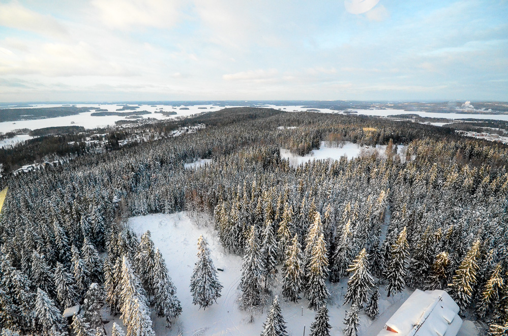 View from Puijo tower at Kuopio, Finland. Photo: Upe Nykänen